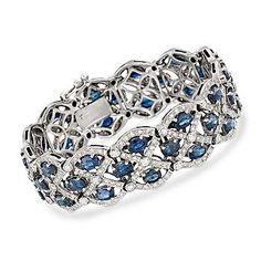 Blue Sapphire and Diamond Bracelet.. omg sooo beautiful.