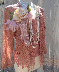 Victorian long sleeves lace vest, Plus size vest, Photo prop, Romantic lace vest, Boho Chic, Bohemian on Etsy, $65.00