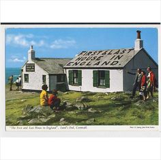 AJ42 The First and last house in England, Land's End Cornwall Listing in the Cornwall,England,Topographical,Postcards,Collectables Category on eBid United Kingdom