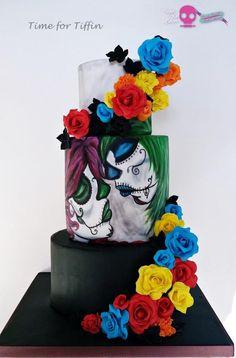 Sugar skulls   by Time for Tiffin  - http://cakesdecor.com/cakes/219007-sugar-skulls