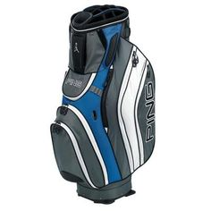 Ping Pioneer Golf Cart Bag in Blue/Charcoal/White at golfgeardirect.co.uk