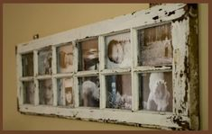 frame from old window or door.... I did this about a year ago from windows that were from a 100 year old farm house.. love it!  you can also get one large picture