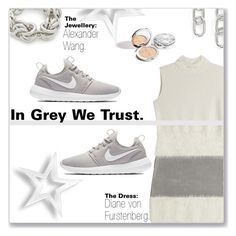 Greydetta. by peony-and-python on Polyvore featuring Mode, Diane Von Furstenberg, NIKE and Alexander Wang