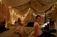 i love living room sleepovers and inside forts.