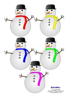 Pupil self-registration snowmen (SB1859) - SparkleBox