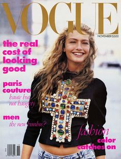 Vogue, November 1988  Anna Wintour's first cover.  Photographed by Peter Lindbergh