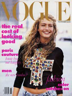 Vogue, November 1988: Anna Wintour/Peter Lindbergh/Michaela Bercu/Carlyne Cerf de Dudzeele