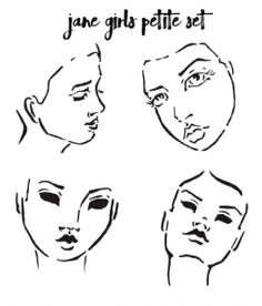Jane Girls Petite Series: Face Stencils from Jane