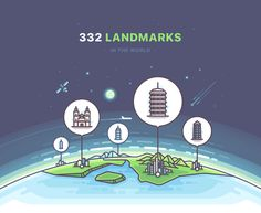 332 Landmarks on Behance Country Flags Icons, Logo Ig, City Drawing, City Icon, Flag Icon, Ligne Claire, Insta Icon, Highlights, Travel Icon