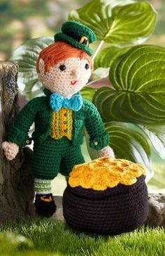Kitrick the Leprechaun Crochet Pattern | Red Heart Free Pattern