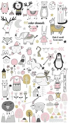 Skandinavisch für Mädchen von JB ART im Kreativmarkt Doodle Drawings, Cute Drawings, Doodle Art, Wallpaper Gatos, Animal Doodles, Baby Drawing, Drawing Drawing, Motif Floral, Grafik Design
