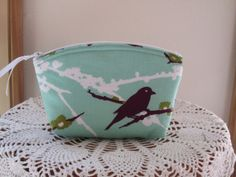 Cosmetic Bag Clutch Purse Small Makeup Zipper by Antiquebasketlady, $13.00