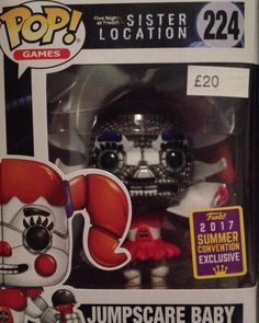 New funko pop #fnaf #fnafsisterlocation #funkopop #comiccon2018 #civichall