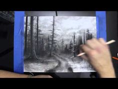 Dark Forest Charcoal Speed Drawing - YouTube