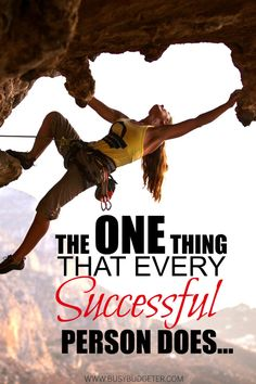 Every successful person, regardless of what their success is in, has one major thing in common. So the question is... Do you do this?