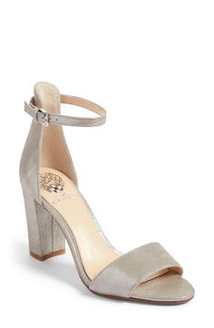 Free shipping and returns on Vince Camuto Corlina Ankle Strap Sandal (Women) (Nordstrom Exclusive) at Nordstrom.com. Slender straps at the toe and ankle define the barely there look of this must-have sandal lifted by a block heel for added comfort.