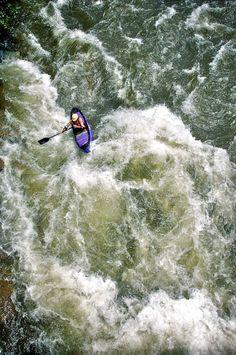 bmphotographer:  Kayaker - Hell's Hole - Ocoee River