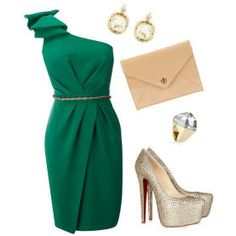 32 Polyvore Outfits For Every Occasion - Fashion Diva Design.... Love the color of the dress!!