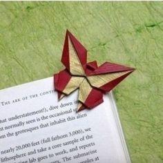 Schmetterling als Lesezeichen basteln-dekoking-com