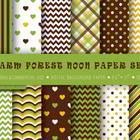 Background paper, green, brown, yellow, scrapbooking, craft  Enjoy this free collection of 12 paper sheets in JPG. Feel free to use them for educat...
