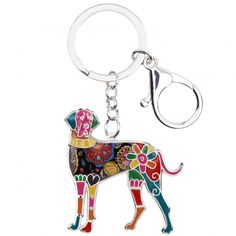 Multicolor Great Dane Dog Key Ring (6 color options). 🐶 Online shopping for Little Dogs Supplies with free worldwide shipping.🐶 Be sure you follow for daily pics & offers! 🐶  . . . #dogs #doggy #dog #doglover #cutedogs #doglovers #puppy #love #frenchie #bulldog #westie #hund #bully #frenchbulldog #pet #animal #chihuahua #labrador Whippet Dog, Dachshund Dog, Dog Keychain, Great Dane Dogs, Dog Bag, Grey Hound Dog, Cat Necklace, Chains For Men, Animal Jewelry
