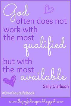 #sallyclarkson #ownyourlifebook Sally Clarkson, Book Of Life, Dear God, Random Things, Spiritual, Inspirational, Image, Random Stuff