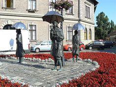 Les dames au parapluie, une oeuvre inattendue d'Imre VARGA-Budapest-