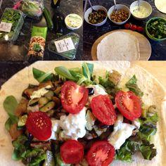 Foto: Veganer Wrap in der Zubereitung / (c) Der grüne Mami Blog