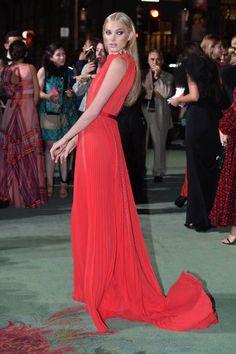 Red carpet dresses fashion awards 2018