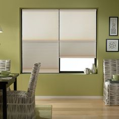Light filtering & blackout honeycomb fabric together in one shade. Walker House, Blackout Shades, Cellular Shades, Custom Blinds, Light Filter, Shades Blinds, Lowes Home Improvements, Blackout Curtains, Modern Lighting