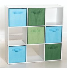 Stackable 9 Cube White Storage Display Toy Shelves Furniture Unit Clothes Rack
