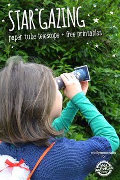 CONSTELLATION ACTIVITY – PAPER TUBE TELESCOPE CRAFT WITH FREE PRINTABLE STAR CARDS