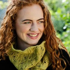 Aileen Lace Leaf Cowl Pattern This warm and airy cowl is perfect for chilly walks that will remind you of Ireland. Knitted to a loose gauge, the Aileen cowl pattern is suitable for advanced beginners. Cowl pictured knitted in Vale, shade Leaf Knitting Projects, Knitting Patterns, Walks, Cowl, Ireland, Lace, Beautiful, Fashion, Moda