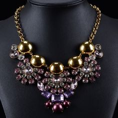 ✨ Host Pick ✨Purple & Golden Ball Necklace New and unique! Jewelry Necklaces