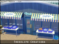 The Sims 4 | Treelife Creations Buyable Produce - Fish | buy mode new functional objects retail community lot