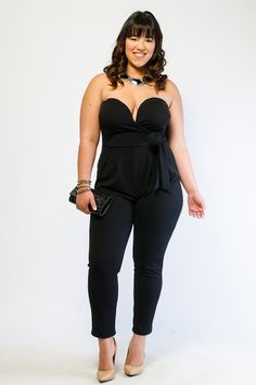 FLAWLESS SWEETHEART SOLID JUMPSUIT $27.99