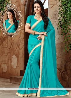 Aspiring to make a mark in the world of style, here is the attire to breath life into your aspirations. Add a vibrant burst of shade with your wardrobe with this turquoise art silk designer traditiona. New Saree Designs, Turquoise Art, Designer Sarees Online, Art Silk Sarees, Latest Sarees, Traditional Sarees, Stone Work, Exclusive Collection, Teal Blue