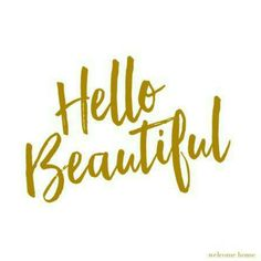 "Paper napkin from Welcome home. ""Hello Beautiful"" (front). Design 2015. www.welcomehome.no"