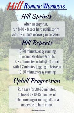 Hill Running Benefits and 3 Hill Running Workouts The Benefits of Hill Running Workouts Plus 3 Hill Workouts to Increase Speed, Build Endurance, and Improve your Running Form Running Hills, Running Form, Running Training, Training Plan, Running Schedule, Rugby Training, Training Equipment, Trail Running, Weight Training