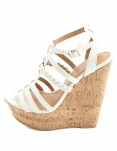 Braided Strappy Platform Wedge Sandals: Charlotte Russe - ugh so cute! ive had an obsession over wedges lately