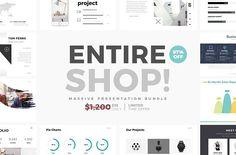 Entire Shop Powerpoint + Keynote by Slidedizer on @creativemarket