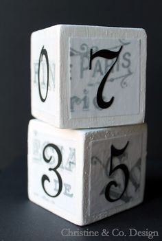 Perpetual Calendar Blocks  Christine & Co.