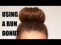 New hair bun tutorial donut watches ideas Donut Bun Hairstyles, Bun Hairstyles For Long Hair, Trendy Hairstyles, Braided Hairstyles, How To Bun, Doughnut Bun, Hair Bun Donut, Medium Hair Styles, Long Hair Styles