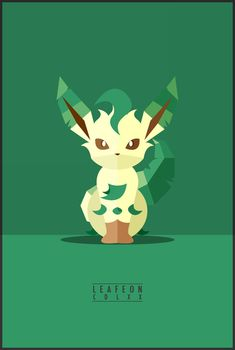 Minimalistic Illustrations Of Various Evolved Forms Of The Eevee Pokémon - DesignTAXI.com