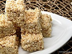 Quinoa and brown rice Crispy treats. Made with Vegan Marshmallows and Earth balance! Sweet!!!