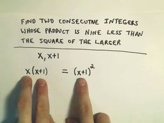 Un problema di matematica con i numeri interi