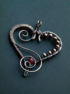 Heart Pendants  - via @Craftsy