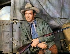 James Stewart as former bushwacker, now trail scout McLyntock in Bend of the River (1952). Courtesy Photofest.