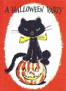 ~Thank You For Viewing My Auction~ GIBSON Vintage Hallowe'en Greeting Card With Original Envelope ! Vintage Halloween Cards, Retro Halloween, Halloween Painting, Holidays Halloween, Spooky Halloween, Halloween Crafts, Halloween Stuff, Halloween Quotes, Halloween Pictures