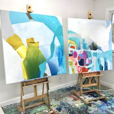 Getting ready for 2 art fairs: The Artist Project in Toronto (Feb 22-25, 2018) and The Other Art Fair in Los Angeles (March 15-18, 2018). Am working night and day! #ClaireDesjardins #ClaireDesjardinsArt #AbstractArt #AbstractPainting #AbstractArtwork #OriginalArt #OriginalArtwork #OriginalPainting #Painting #Art #Artwork #PaintingForSale #ArtForSale #ArtworkForSale #ArtistOnInstagram #ArtistOfInstagram #WallArt #WallDecor #workinprogress #wip #paintinginprogress